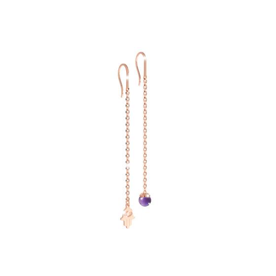 Серьги Amulet BAMORA04 (pink/purple)