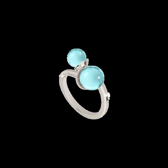 Кольцо Hollywood stone BBYABT05 (white/blue)
