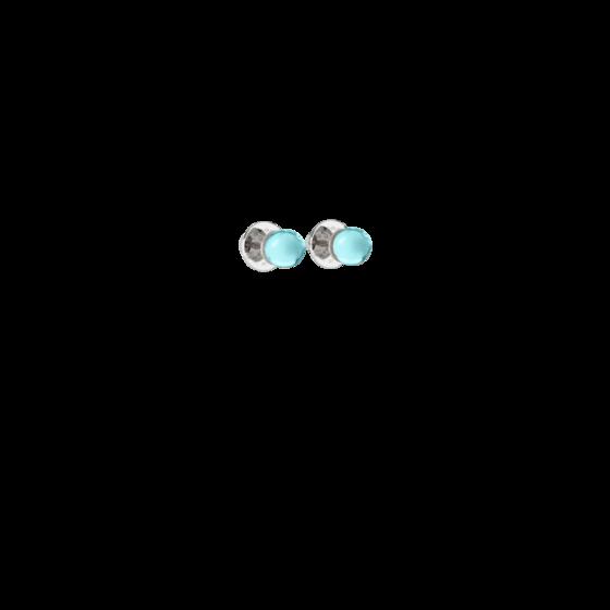 Серьги Boulevard stone BBYOBT01 (white/blue)