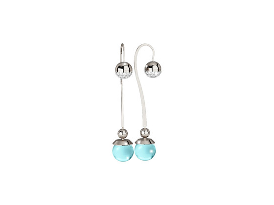 Boulevard stone Earring BHBOBT17 (white/Blue-ice hydrotermal stone)