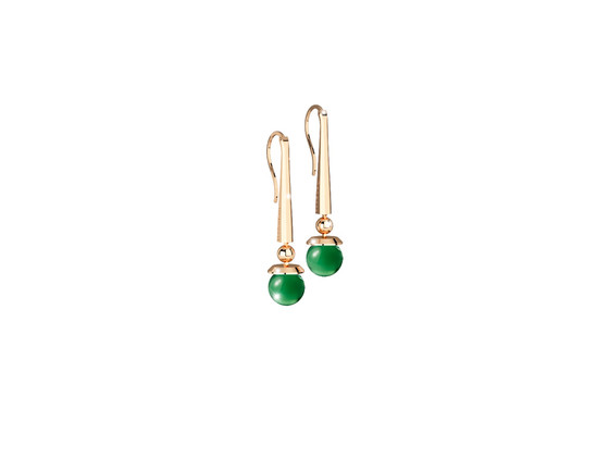 Boulevard stone Earring BHBOOS05 (yellow/Green hydrotermal stone)
