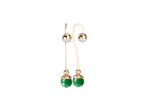 Boulevard stone Earring BHBOOS17 (yellow/Green hydrotermal stone)