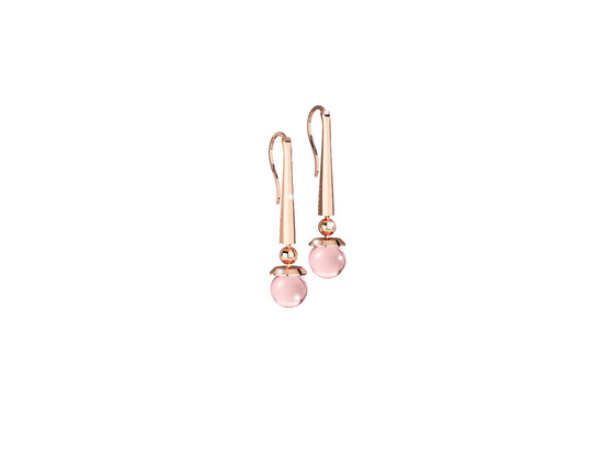 Boulevard stone Earring BHBORQ05 (pink/pink hydrotermal stone)