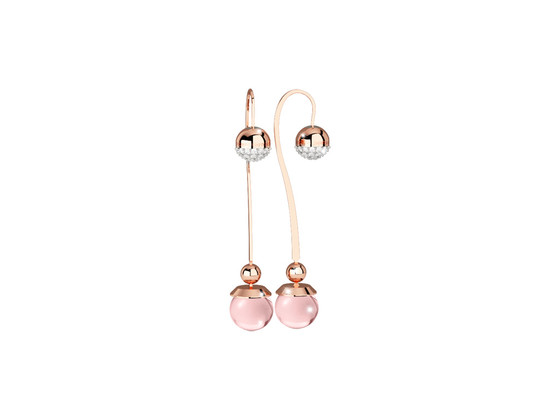 Boulevard stone Earring BHBORQ17 (pink/pink hydrotermal stone)