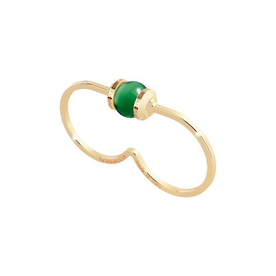 Кольцо Hollywood stone BHDAOS01 (yellow/green)
