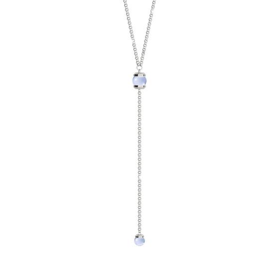 Колье Hollywood stone BHDKBL09 (white/blue matte)
