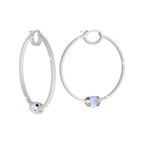 Серьги Hollywood stone BHDOBL02 (white/blue matt)