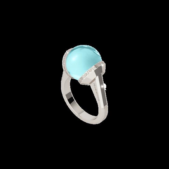 Кольцо Hollywood stone stone BHSABT03 (white/blue)