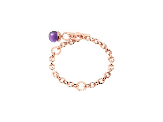 Браслет Hollywood stone BHTBRA06 (pink/purple)