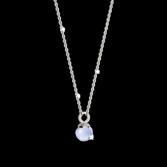 Колье Hollywood stone BHTKBL07 (white/blue matt)