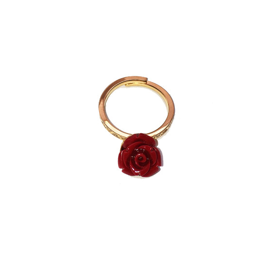 Mediterraneo Ring BMDAOR02 (yellow/Red coral beads)