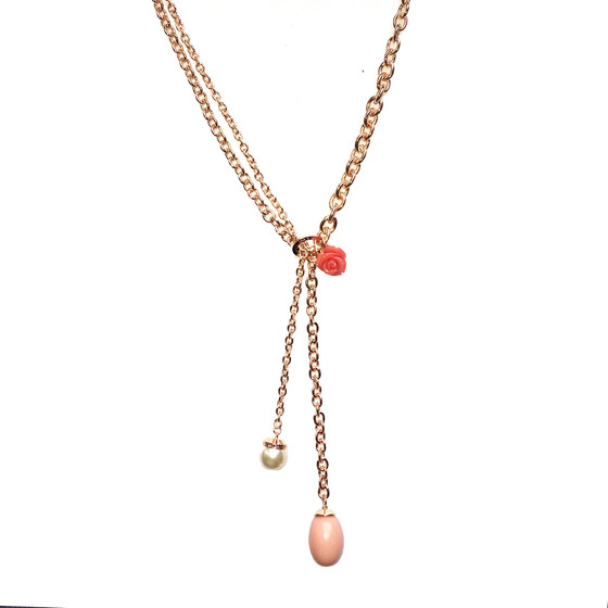 Mediterraneo 18 Necklace BMDKRP56 (pink/Pink coral beads)