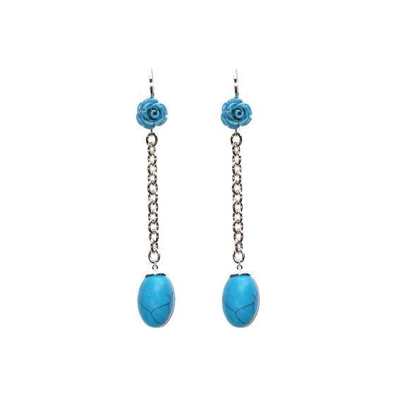 Mediterraneo Earring BMDOBT09 (white/Turquoise coral beads)