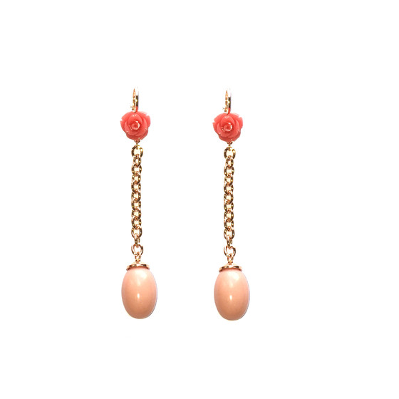 Mediterraneo Earring BMDORP09 (pink/Pink coral beads)