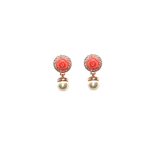 Mediterraneo 18 Earring BMDORP52 (pink/Pink coral beads)