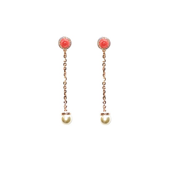 Mediterraneo 18 Earring BMDORP54 (pink/Pink coral beads)