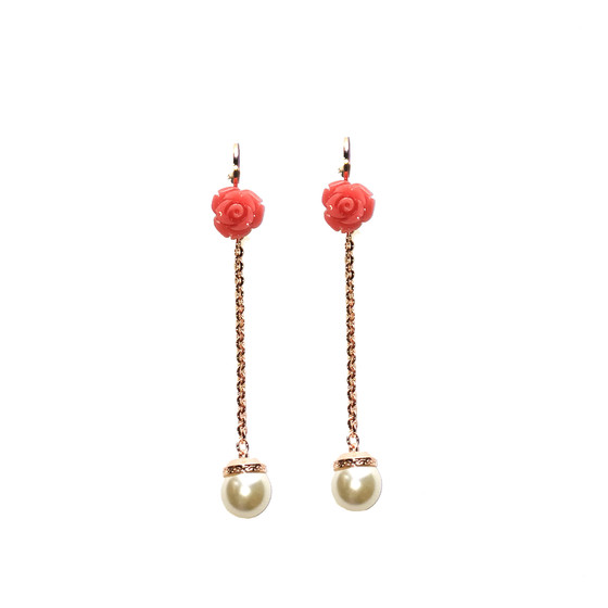Mediterraneo 18 Earring BMDORP64 (pink/Pink coral beads)