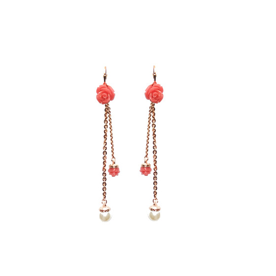 Mediterraneo 18 Earring BMDORP65 (pink/Pink coral beads)