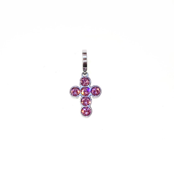 MyWorld Charms  BWMPBA32 (white/Purple stone)