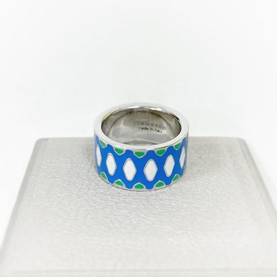Кольцо с эмалью Rainbow BWIABS09 (white)