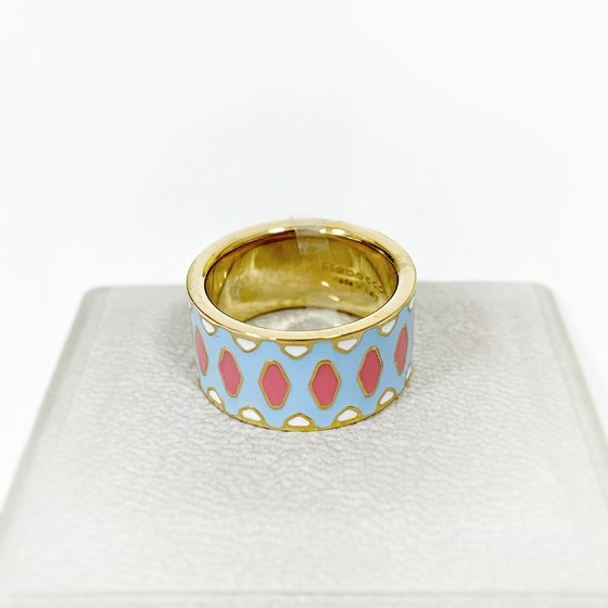 Кольцо с эмалью Rainbow BWIATM19 (yellow)