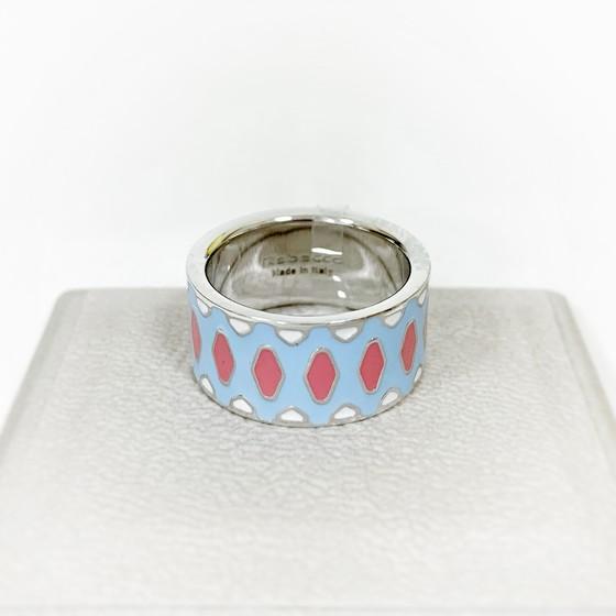 Кольцо с эмалью Rainbow BWIATM09 (white)