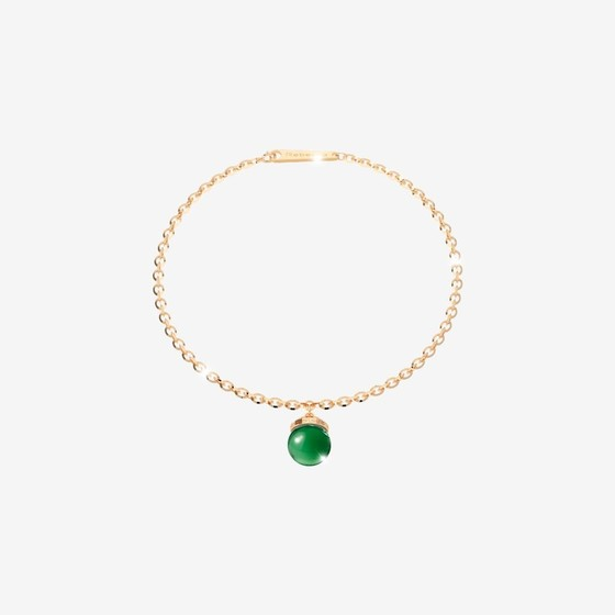 H-Cool Stone Bracelet BHCBOS01 (yellow/Green hydrotermal stone)