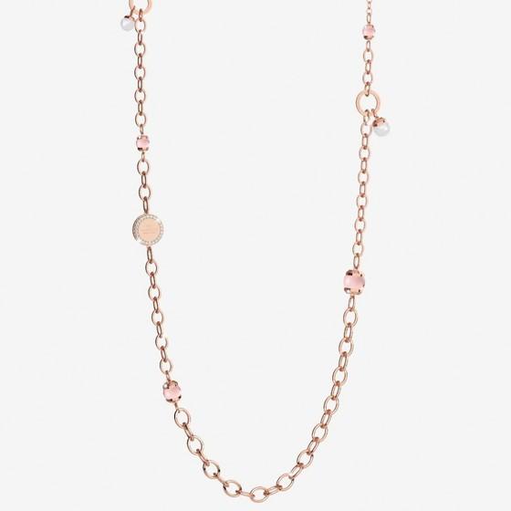 Колье Hollywood stone BHSKRP55 (pink/pink/pearl)