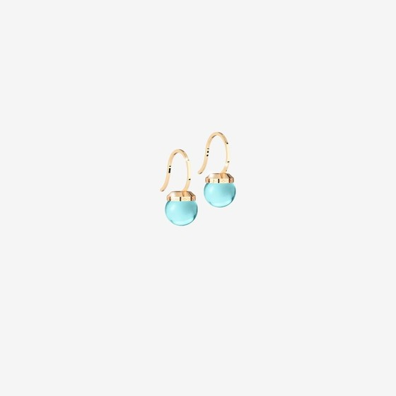 Hollywood stone Earring BHSOOT01 (yellow/Blue-ice hydrotermal stone)
