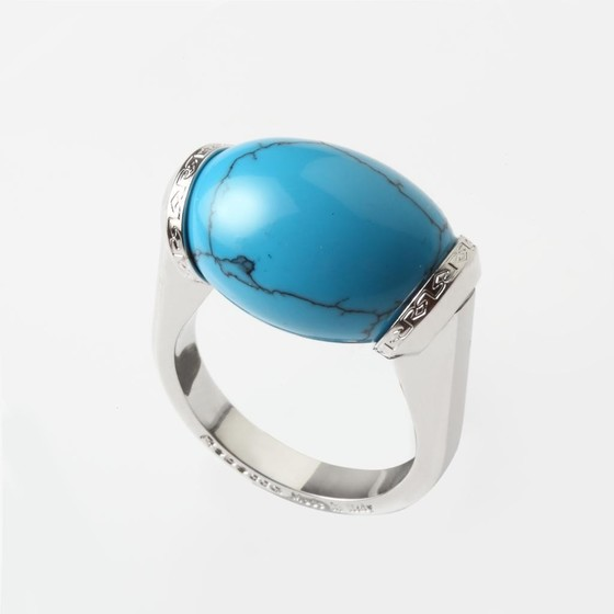 Кольцо Mediterraneo BMDABT06 (white/turquoise)