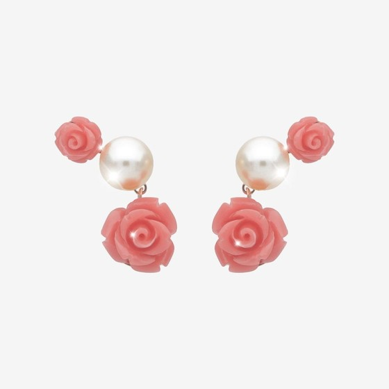 Mediterraneo Earring BMDORP59 (pink/Pink coral beads)